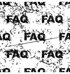 FAQ pattern grunge monochrome vector