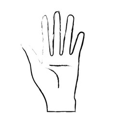 Figure nice hand with all fingers and palm vector