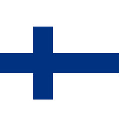 flag of finland national symbol of the state vector image