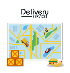 Food delivery service vector