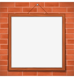 Frame on brick wall vector image vector image