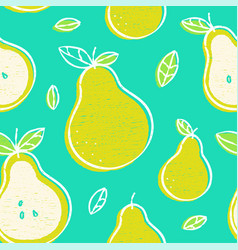 frash pears modern beauty seamless vector image
