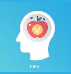 Fresh idea concept modern gradient flat vector