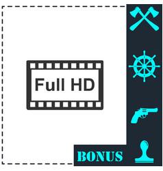 full hd icon flat vector image