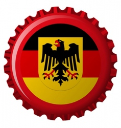 german bottle cap vector image