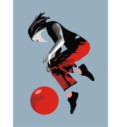 Girl Ball Red Bird vector image