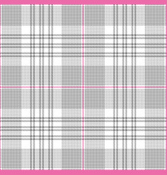 Glen check plaid pattern grey pink vector