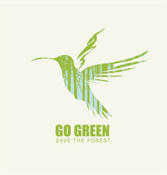 go green eco poster concept save forest vector image