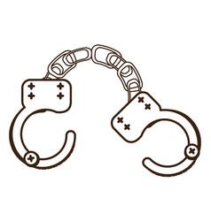 Handcuffs icon image vector