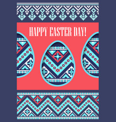holiday spring greeting card eggs paper cut vector image