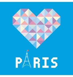 I love Paris card6 vector image