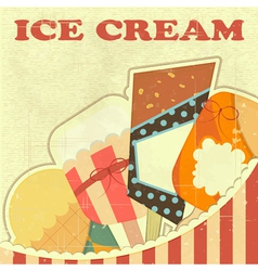 Ice Cream Retro color vector