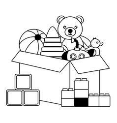 Kids toys design vector