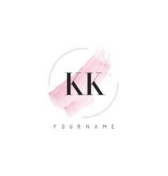 Kk k k watercolor letter logo design vector