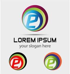 Letter E logo element vector