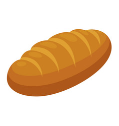 loaf icon fresh delicious bread and bakery symbol vector image