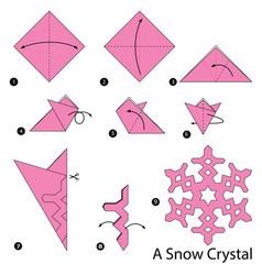 Make origami a snow crystal vector