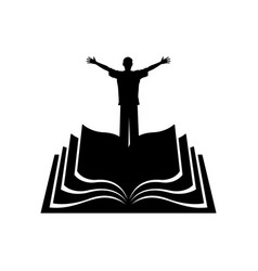 Man on background bible vector