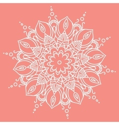 Mandala Hand drawn ethnic decorative element vector