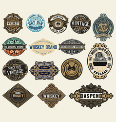 Mega pack labels and banners vector
