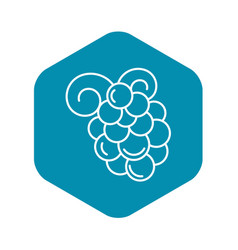 Merlot grape icon outline style vector