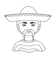 Mexicanhuman race single icon in outline style vector
