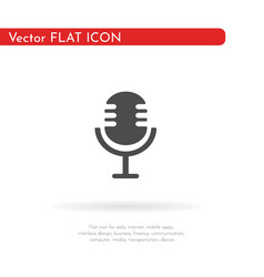 microphone icon for web business finance and vector image