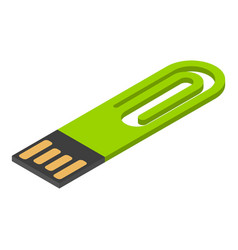 mini usb flash icon isometric style vector image