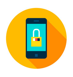mobile secure circle icon vector image
