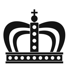 Monarchy crown icon simple style vector