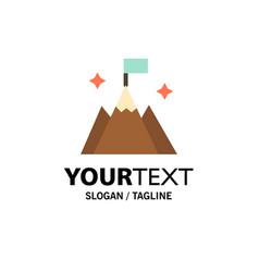 Mountain flag user interface business logo vector
