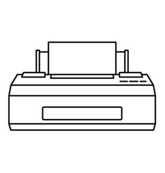 old printer icon outline style vector image