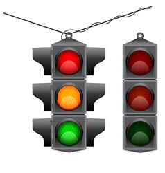 Old traffic light hanging vector