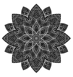 ornamental filigree mandala vector image