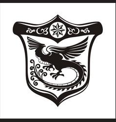 Phoenix shield logo vector