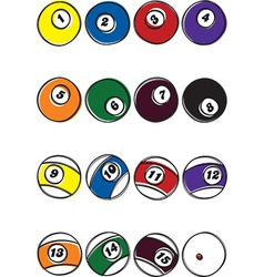 Pool ball designs vector
