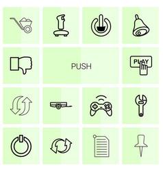 Push icons vector
