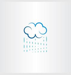Rain and cloud logo icon symbol vector