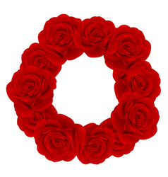 Red rose wreath vector