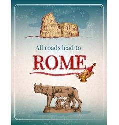 Rome retro poster vector image