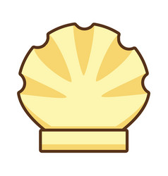 scallop sea shell wildlife vector image