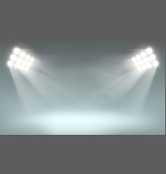 searchlight on dark background vector image