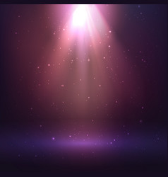 Shining light effect on dark background vector