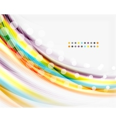 Smooth colorful line on white Wave abstract vector