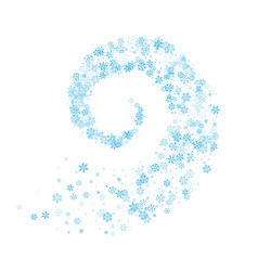 snowflakes twisted in vortex vector image