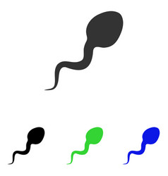 Spermatozoon flat icon vector