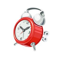 Vintage alarm clock with arrow vector