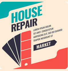vintage house repair poster vector image
