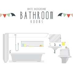 White Background Bathroom vector image