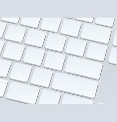 white blank computer keyboard close up image vector image